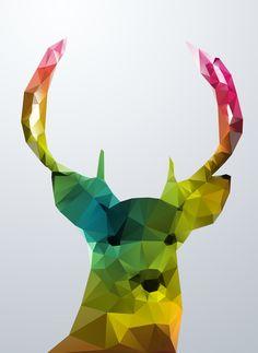 Glass Animal - Deer head Art Print