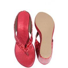 #Krazy #Feet #Red Color #Wedges  shop now-->> http://goo.gl/5mevGO