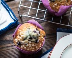 Muffins allégés aux myrtilles No Cook Desserts, Dessert Recipes, Muffins, Diet Recipes, Healthy Recipes, Biscuit Cookies, Cooking Light, Biscuits, Food Porn