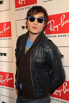 Ed Westwick attends a celebration of the remastered Clubmaster sunglasses.  Stylish Sunglasses, Ray Ban 3e11f381b1