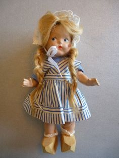 Early Vogue Ginny Composition Doll In Dutch Costume