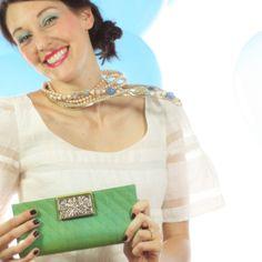 Silk & Organza Wallet - Handmade Ethically in Cambodia!