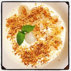 French Vanilla Yoghurt w Lychee & Toasted Coconut  #mealforameal #instafood #foodpic #foodelicious #yoghurt #Frenchvanilla #lychee #toastedcoconut #healthyeating #foodelicious #yummygoodness