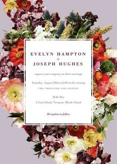 Boundless Blooms Invitation Suite / BHLDN + Wedding Paper Divas