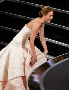 We're thankful Jennifer Lawrence tripped up the stairs at the Oscars. Click here to find out why.