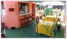 Detalle de la terraza-bar superior. Cienfuegos, Cuba, Colonial, Terrace