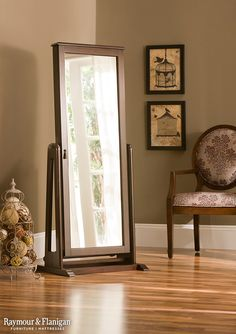 This Larissa cheval mirror with jewelry storage offers more than beautiful style and a convenient full-length view. It's the perfect gift for mom this Mother's Day.