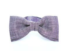Mens bow tie by Bartek Design - groom wedding classic retro necktie chic handmade gift for him pre tied - eggplant purple plum