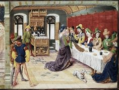 It's About Time: Christmas Food & Drink - Medieval Christmas Medieval Life, Medieval Art, Renaissance Art, Medieval Costume, Italian Renaissance, Medieval Manuscript, Illuminated Manuscript, Ancient History, Art History