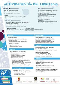 La semana que viene se celebra el Día del Libro #Antequera