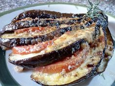 ¡ Best Italian Recipes, Favorite Recipes, Convection Oven Recipes, Baked Eggplant, Vegetarian Recipes, Healthy Recipes, Mozzarella, Sin Gluten, Easy Cooking
