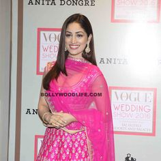 Yami Gautam snapped in Anita Dongre wedding collection