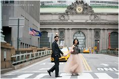 fun in the city | Grand Central   Central Park engagement