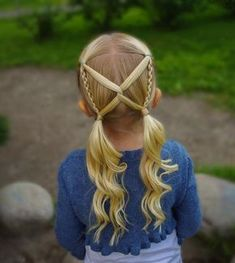 Another version of this pigtail style I made this summer! Little Girl Hairstyles Pigtail style summer version Girls Hairdos, Baby Girl Hairstyles, Summer Hairstyles, Pretty Hairstyles, Braided Hairstyles, Wedding Hairstyles, Toddler Hairstyles, Short Hairstyles, 1980s Hairstyles