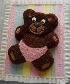 Cute Teddy Bear Baby Shower Decorating Ideas Diy Teddy Bear, Teddy Bear Cakes, Teddy Bear Baby Shower, Cute Teddy Bears, Baby Boy Shower, Baby Shower Desserts, Baby Shower Cakes, Baby Shower Decorations, Free Baby Shower Printables