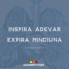 Exercitiu de respiratie: Inspira Adevar. Expira Minciuna #haiperacheta Calm, Quotes, Movies, Movie Posters, Life, Love, Quotations, Films, Film Poster