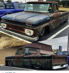 Bagged Trucks, Lowered Trucks, C10 Trucks, Chevy Pickup Trucks, Hot Rod Trucks, 1966 Chevy Truck, Chevy C10, Chevy Pickups, Chevrolet Trucks