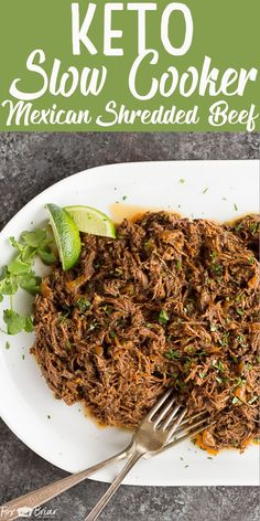 Keto Slow Cooker Mexican Shredded Beef recipe