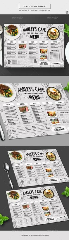 Doodle Cafe Menu Board - Food Menus Print Templates Download here : https://graphicriver.net/item/doodle-cafe-menu-board/19666867?s_rank=18&ref=Al-fatih