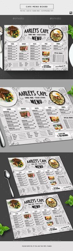 Doodle Cafe Menu Board - Food Menus Print Templates Download here : https://graphicriver.net/item/doodle-cafe-menu-board/19666867?s_rank=18&ref=Al-fatih