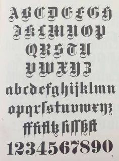 Blackletter capitals and lowercase reference.