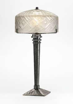 Henri Petitot 1914 1938 Lamp Champignon In Silvered