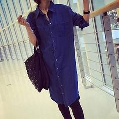Buy 'Athena – Long Denim Shirt' with Free International Shipping at YesStyle.com. Browse and shop for thousands of Asian fashion items from China and more!
