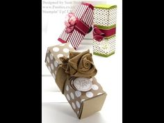 ▶ Stampin Up UK Long Fold Flat Gift Box - YouTube