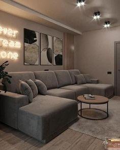 Classy Living Room, Decor Home Living Room, Living Room Sofa Design, Room Design Bedroom, Home Room Design, Home Bedroom, Living Room Designs, Apartment Interior Design, House Rooms