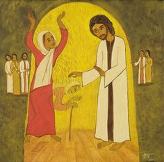 Woman, You Are Freed... (Lk. 13:12), by Hanna Varghese