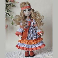 Келли. Текстильная кукла. Бохо.