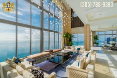 Take a tour of the world's finest penthouse. This is a magnificent property located at the Atlantic Ocean in Sunny Isles Miami Beach.