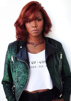 Letoya Luckett Auburn Bob Hair Black Women Styles Medium length