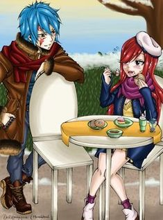 Surprise - Collab with DevilishMirajane by MonoGhost on DeviantArt Fairy Tail Family, Fairy Tail Couples, Fairy Tail Episodes, Jerza, Fairytail, Jellal And Erza, Fairy Tail Ships, Erza Scarlet, Anime Ships