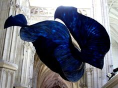 Ethereal Paper Sculptures Float Inside a Church... Peter Gentenaar artworks..