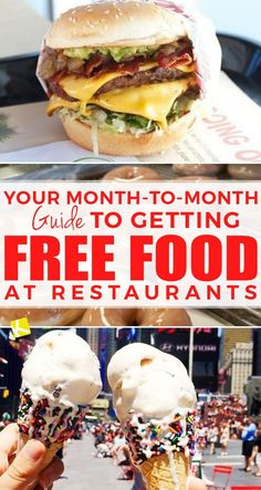 Your Month-to-Month Guide to Getting Free Food at Restaurants New freebies crop up every day, and I'm constantly rounding up the best of them. These freebies are my old faithfuls. Restaurants offer these specials year. Birthday Freebies, Birthday Deals, Free Birthday, Birthday Stuff, Birthday Cakes, Birthday Gifts, Eat On A Budget, Budget Meals, Frugal Living Tips