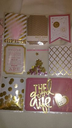 Pocket Letter-Gold & Pink