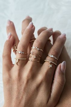 Rue Gembon Preston Gold Ring Set - Must Have Accessories - Jewelry Hand Jewelry, Dainty Jewelry, Cute Jewelry, Silver Jewelry, Jewelry Accessories, Jewelry Necklaces, Jewelry Design, Women Jewelry, Fashion Jewelry