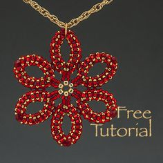 Seed Bead Necklace Pattern - Happy Holidays Pendant - (Free Tutorial)