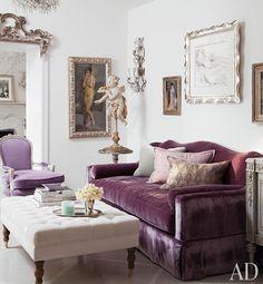 Purple sofa!