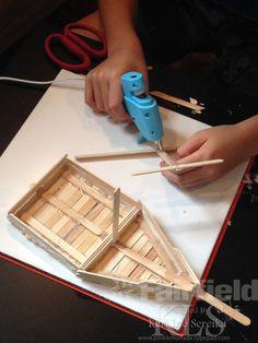 03 Assemble a Mast - Keri Lee Sereika popsicle stick crafts.  AdTech Low Temp Glue Gun and Glue Sticks.