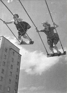 NO KNEE PADS, NO HELMETS - JUST SWINGING UP TO THE SKY.