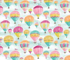 Hot Air Balloons fabric by jillbyers on Spoonflower - custom fabric