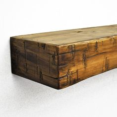 Dogberry Collections Rustic Mantel Shelf, Aged Oak, ~ Rustic Home Decor ~ Olivia Decor - decor for your home and office. Rustic Fireplace Mantels, Fireplace Shelves, Home Fireplace, Fireplace Ideas, Fireplace Surrounds, Oak Mantel, Brick Fireplace Remodel, Fireplace Showroom, Wood Mantel Shelf