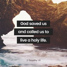 For God saved us and called us to live a holy life. He did this, not because we deserved it, but because that was his plan from before the beginning of time—to show us his grace through Christ Jesus. 2 Timothy 1:9 NLT