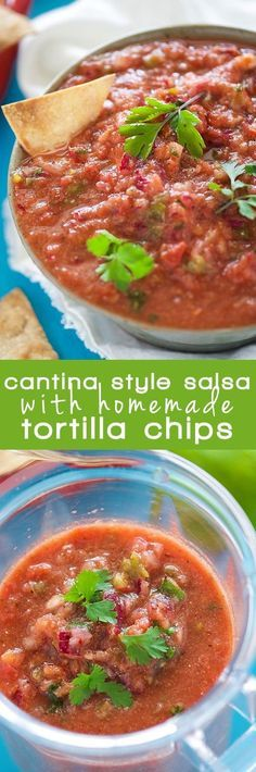 ... salsa with homemade corn tortilla chips comes together quickly for a