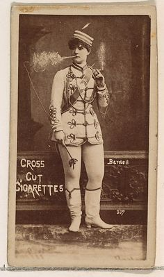 1880s Card Number 337, Bardell, from the Actors and Actresses series (N145-1) issued by Duke Sons & Co. to promote Cross Cut Cigarettes
