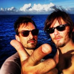 Wearing nothing at all. | 36 Photos Of Norman Reedus That Will Give You A Zombie Boner