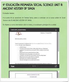 "Unidad 8 de Social Science de 4º de Primaria: ""Ancient history of Spain"" Social Science, Socialism, Knowledge, Learning, Interactive Activities, Teaching Resources, Unity, Vocabulary, Social Studies"