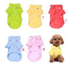 Pure Cotton Multi-Colors Joker Puppy Pet Dog Cat T-Shirt Top Vest